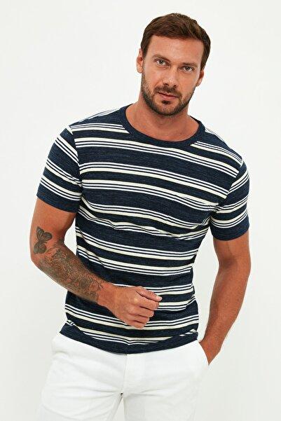 MANGO Man Erkek Lacivert T-Shirt 67927665