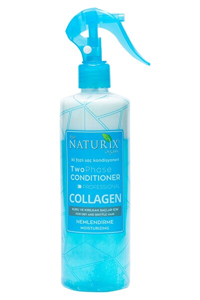 Naturix Bitkisel Collagen Fön Suyu Iki Fazlı Sıvı Saç Kremi 400 ml Saç Kondisyoneri Mavi Su Kolay Tarama
