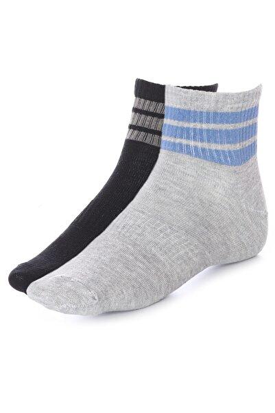 Sportive Spt Unisex Siyah Günlük 2li Çorap 2021012-sgç
