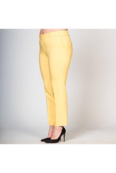 dml giyim Bilekte Boy Yandan Cepli Likralı Kumaş Pantalon