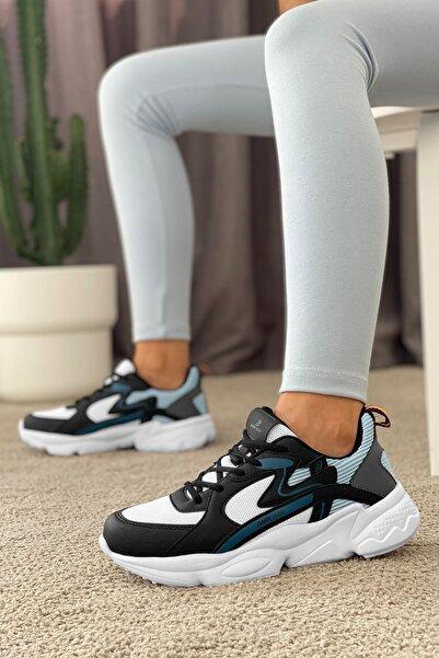 DARK SEER Siyah Beyaz Mavi Kadın Sneaker