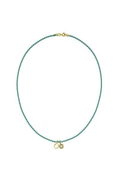 Luzdemia Kadın Gümüş Kilit Aksamlı O Harfi Kolye (ınitial O Rope Necklace)