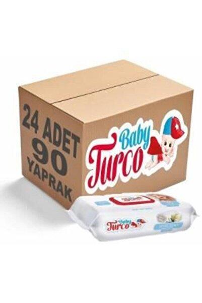 Baby Turco Islak Mendil Beyaz Sabun Kokulu 90 Lı 24 Paket 2160 Yaprak Kapaklı