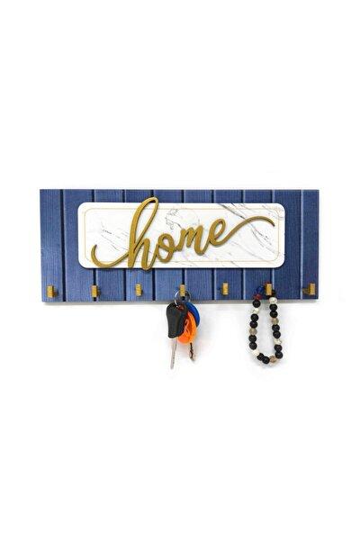 CajuArt Dekoratif Kabartma Home Yazılı Ahşap Modern Anahtarlık