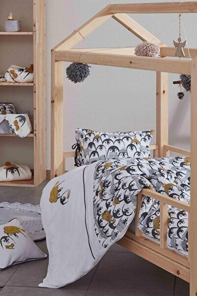 Ecocotton Pıngu Beyaz Bebek Nevresim Seti
