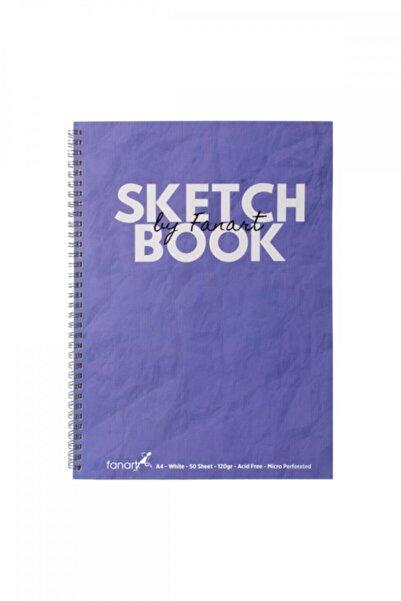 Fanart Academy Sketchbook A4 Spiralli Eskiz Defteri Mor Kapak