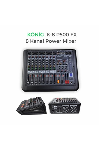 König K8 P-600fx Amfili Power Mikser 8 Kanal 2x300 Watt