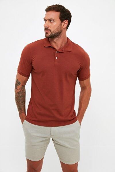 TRENDYOL MAN Kiremit Erkek Slim Fit Polo Yaka Kısa Kollu Polo Yaka T-shirt TMNSS20PO0009