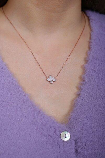 SUNSHINE Kadın Beyaz Mineli Bulut Gümüş Kolye