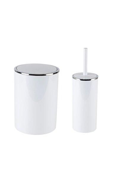 Prima Nova Lenox Çöp Tuvalet 2li Set Beyaz