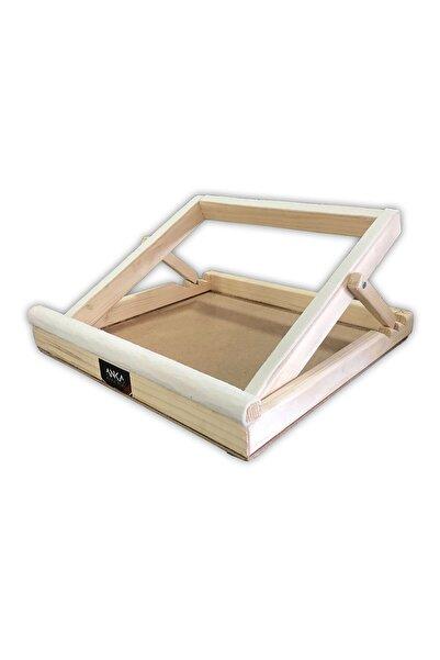 Anka Piramit Tüm Modellerle Uyumlu Ahşap 4 Açı Kolay Ayarlanır Notebook Laptop Standı Yükseltici Altlık Soğutucu