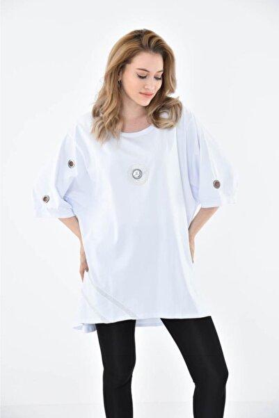 Modkofoni Kadın Beyaz Elbise