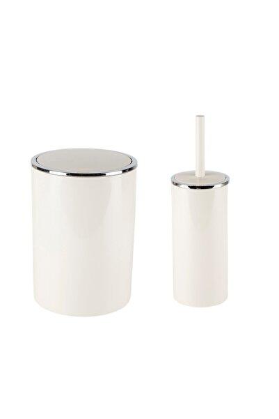 Prima Nova Lenox Çöp Kovası + Tuvalet 2'li Set Bej