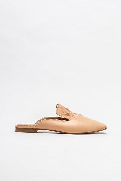 Elle Shoes Hardal Deri Kadın Düz Terlik