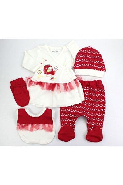 VERONA TARZ Yeni Sezon Kız Bebek Kuş Tüllü 5li Hastane Çıkış Seti Yenidoğan Kıyafeti