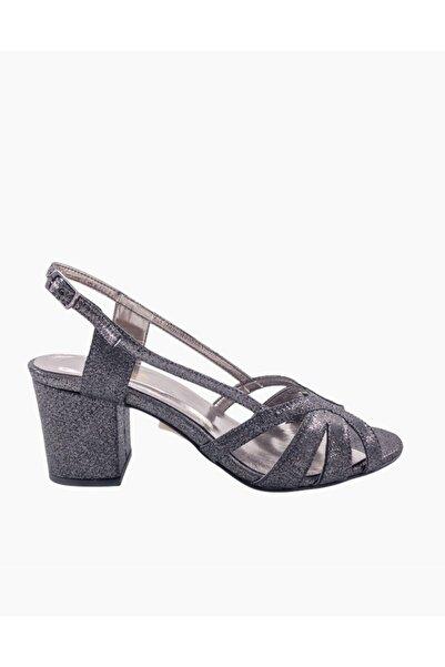 Gess Antrasit Bilek Bantlı Kalın Topuk Abiye Ayakkabı