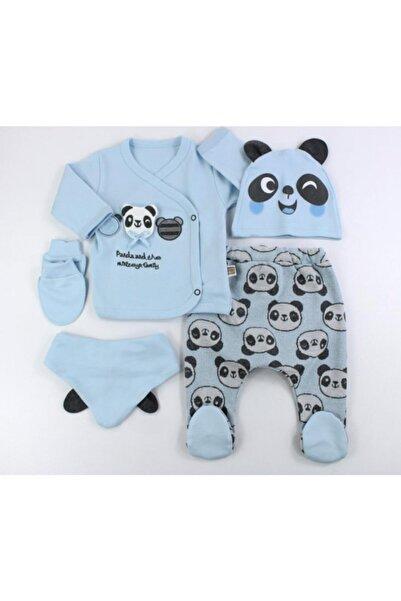 VERONA TARZ Pufidik Panda Bebek 5'li Hastane Çıkış Seti Yenidoğan Kıyafeti
