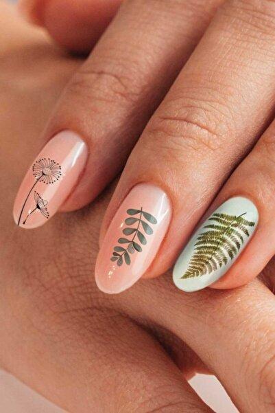 Artikel Yapraklar Ve Tüyler Tırnak Dövmesi Tırnak Tattoo Nail Art Tırnak Sticker