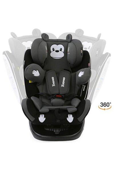 YOYKO Monkey 360 ° Dönebilir Yatabilir 0-36 Kg Oto Koltuğu Isofıx/sıp/latch - Gri