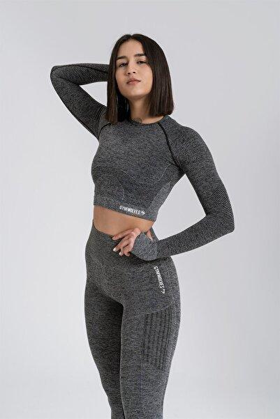 Gymwolves Kadın Uzun Kollu Dikişsiz Spor Tişört