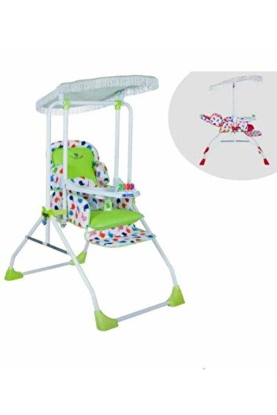 Taşpınar Yeşil Lüx Tam Yatarlı Bebek Salıncak Mama Sandalyesi