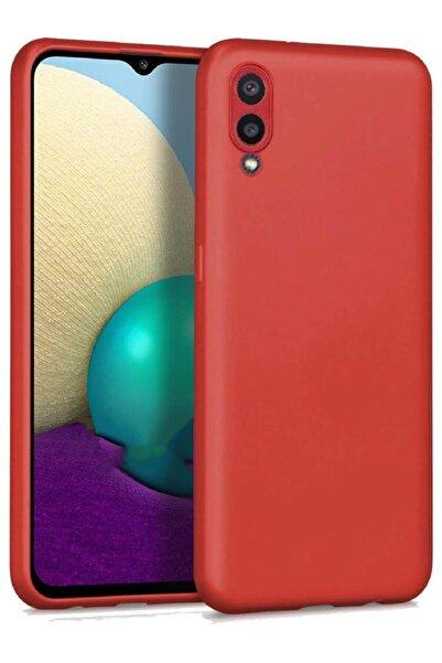 Samsung Galaxy A02 Soft Yüzeyli Yıkanabilir Kırmızı Renkli Arka Kapak