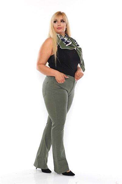 EMEZ Yeşil Yarım Ispanyol Paça Pantolon
