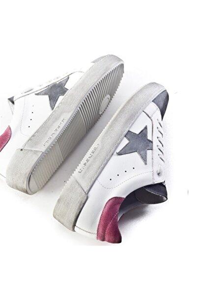 Cabani Kadın Flrs 055-fı Lux Yıldız Motifli Günlük Ayakkabı 212c1400 Beyaz