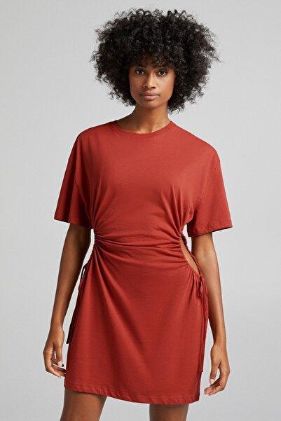 Bershka Büzgülü Elbise