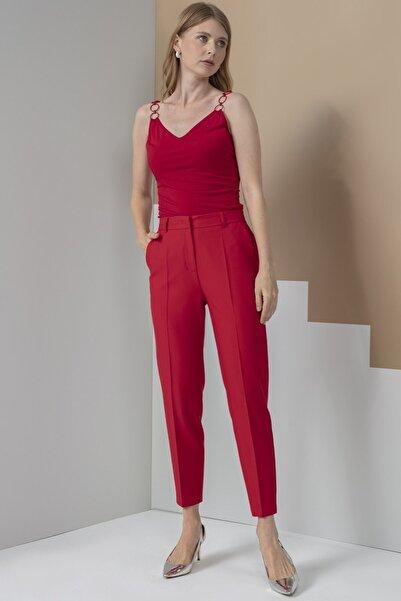 Journey Pantolon Kırmızı Bel Lastikli