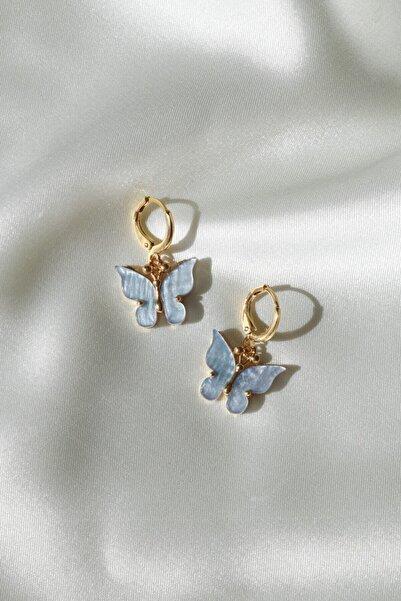 Reorah Collection Mavi Kelebek Küpe