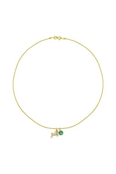 Luzdemia Kadın Gümüş Kilit Aksamlı Italyan Ip Boga Burcu Kolye (taurus Rope Necklace)