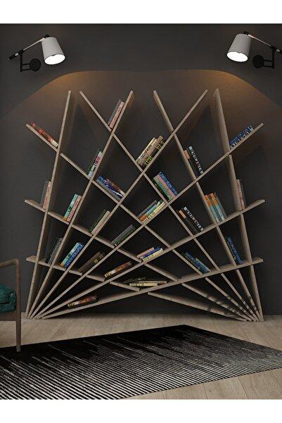 cellowood Özel Tasarım Simetrik Ofis Bekleme Salonu Kütüphane Kitaplık