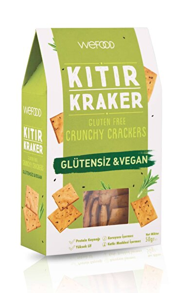 Wefood Glütensiz & Vegan Kıtır Kraker 50 gr