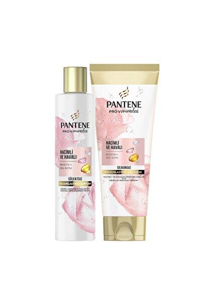 Pantene Sülfatsız Hacim Veren Dolgunlaştırıcı Şampuan Biotin & Gül Suyu 225ml+Saç Bakım Kremi 275ml