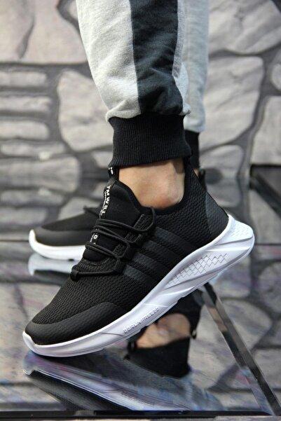 bigport Siyah Beyaz Renk Hafif Ve Esnek Günlük Yürüyüş Ve Fitnes Ayakkabısı Bp-rcng-04-sıyah-beyaz