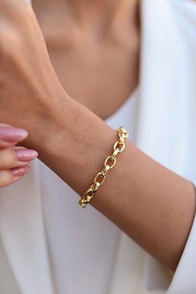 SUNSHINE Kadın Gold Renk Kaplama 925 Ayar Gümüş Bileklik