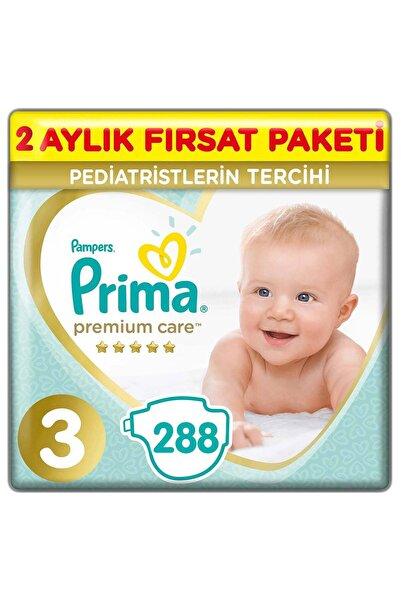 Prima Premium Care Bebek Bezi 3 Beden 288 Adet Midi 2 Aylık Fırsat Paketi