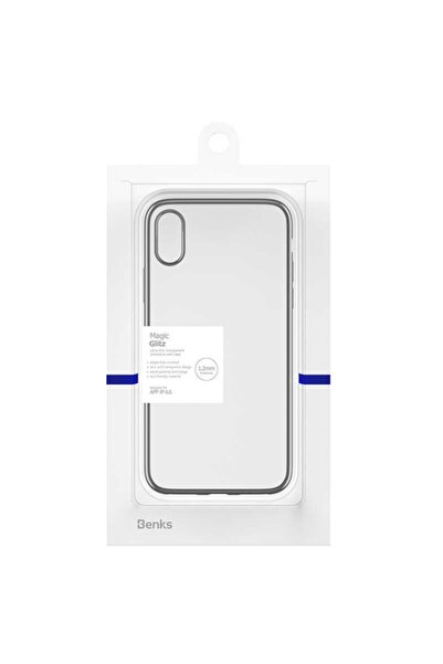 Apple Iphone Xs Max Uyumlu Kılıf Benks Magic Glitz Transparent Protective Soft Thin Case