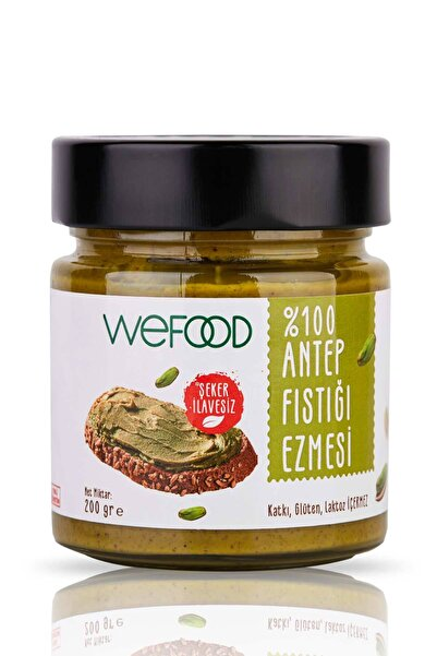 Wefood Şekersiz %100 Antep Fıstığı Ezmesi Sade 200 gr