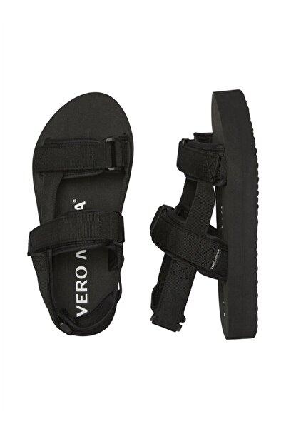 Vero Moda Kadın Siyah Ayarlanabilir Bantlı Renkli Sandalet 10195807 Vmlıa