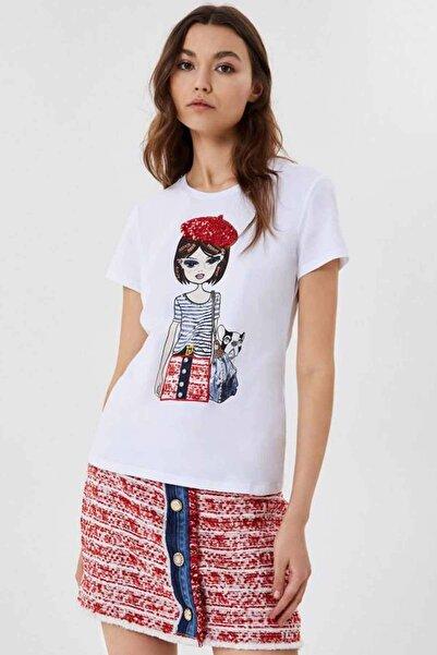 Liu Jo Grafikli Yuvarlak Yaka T-shirt