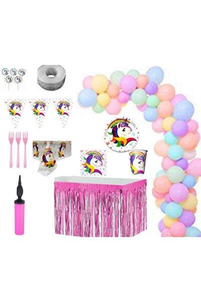 İzmir Partystore Unıcorn 16 Kişilik Lüks Doğum Günü Parti Seti Izmir Party Store