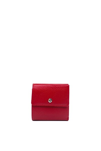 Eminsa Kırmızı Deri Mini Kadın Cüzdan