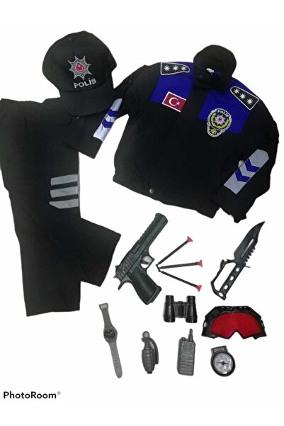 Muray Çocuk Toplum Destekli Polis Kıyafeti Komple Set
