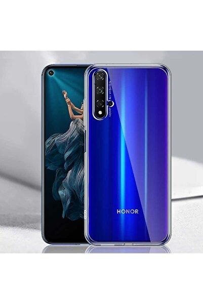 Huawei Nova 5t Kılıf Şeffaf Ince Esnek Pürüzsüz ve Soft