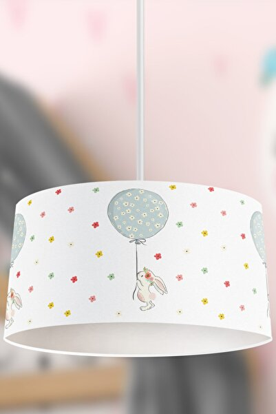 Tropikhome Çiçekli Balonlu Uçan Tavşan Çocuk Sarkıt Avize