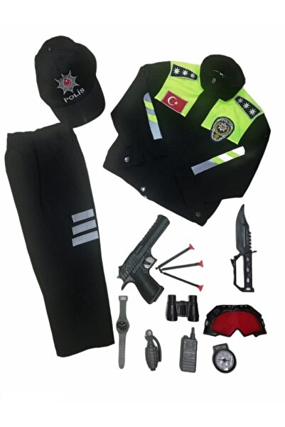 Muray Çocuk Trafik Polis Kıyafeti Komple Set
