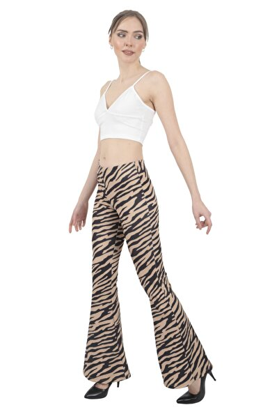Modagusto Zebra Desenli Bol Paça Pantolon