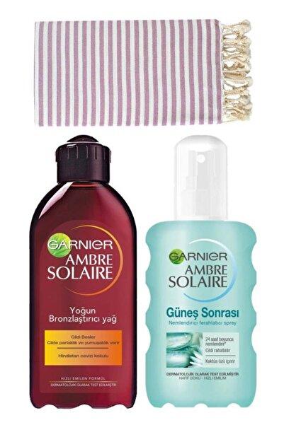 Garnier Ambre Solaire Bronzlaştırıcı Ve Güneş Sonrası Bakım Seti 3